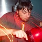 Matt Schmidt, aka DJ Das, at work behind the decks.