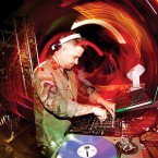 Goldenchyld in the mix during Soul Therapy at Myth Taverna & Lounge. Photo by Jessica Shirley-Donnelly.