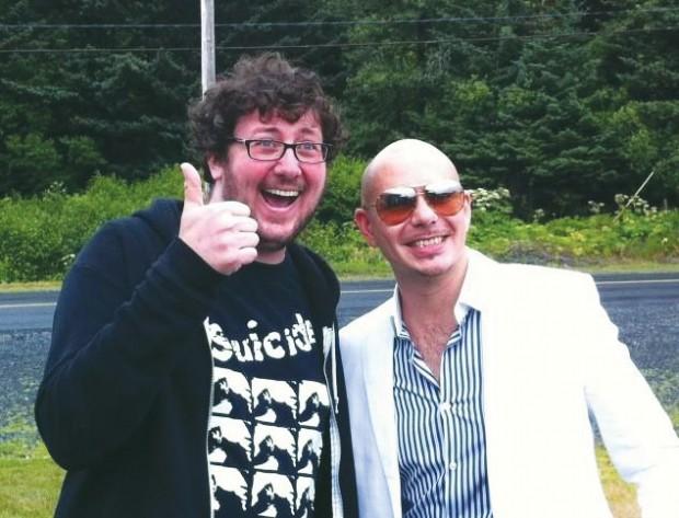 "The ""anti-establishment"" David Thorpe with Pitbull in Kodiak, Alaska."
