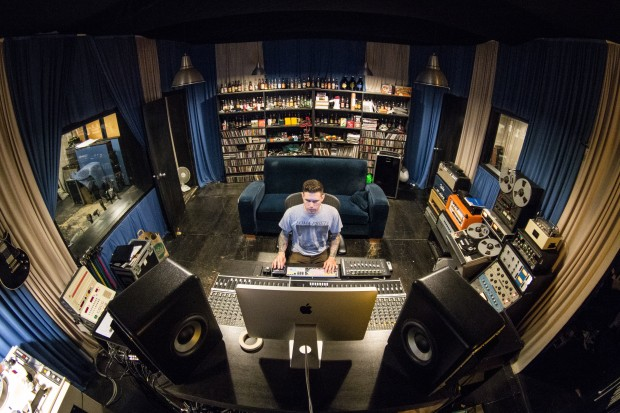 CHAIN REACTION: The Atomic Garden Recording Studio in East Palo Alto is ready to expand, but due to Silicon Valley's skyrocketing rents, it will be moving to the East Bay. Photo by Geoffrey Smith II.