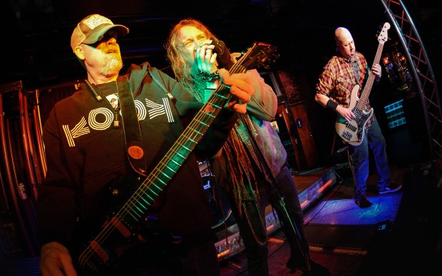 CRAZY KIDS: Karl Larson, an early member of High on Fire, leads San Jose metal outfit KOOK. Photo by Greg Ramar.