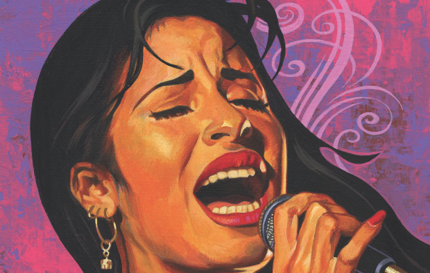 CAN'T STOP THE CUMBIA: An irresistibly danceable mix fuses punk and hip-hop to traditional Latin American beats. Art by Rafael Lopez.