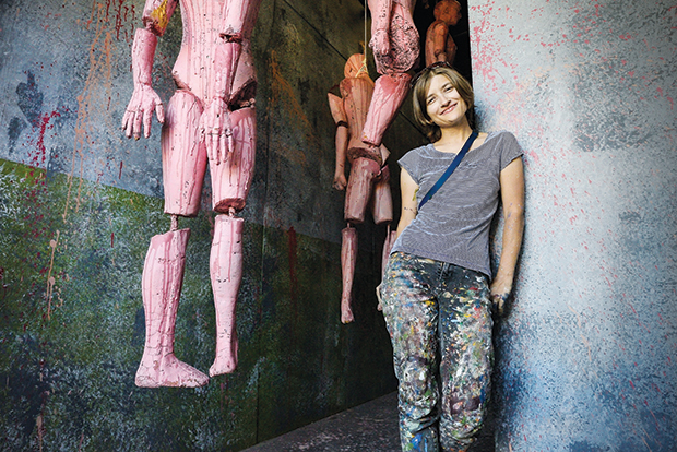 Lacey Bryant uses the experience—and money—she earns from Halloween Haunt to support her work as a full-time artist. Photo by Greg Ramar.