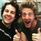 OFF THE VINE: Performing artists David Dobrik and Jason Nash seen here performing art.