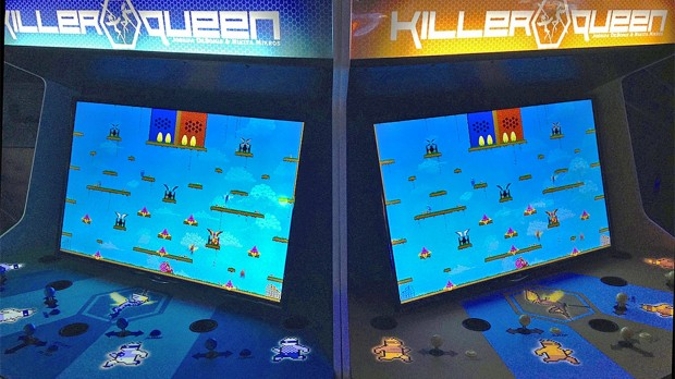 DYNAMITE, LASER BEAM: designed to feel like the arcade games of yore, Killer Queen is a cult hit among gamers, and now you can prove your mettle at it.