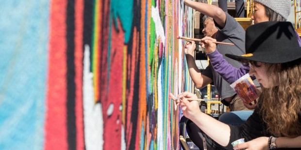KEEP IT 100: A group mural on South First St., consisting of 100 artists' work, is unveiled this Friday.