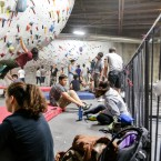 ROCKY ROAD: The road to the top isn't always clear, but at The Studio's Touchstone Climbing Series, no one goes it alone.