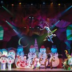 HIGH HOLIDAY: The performers in 'Cirque Dreams Holidaze' put on a high-flying show.