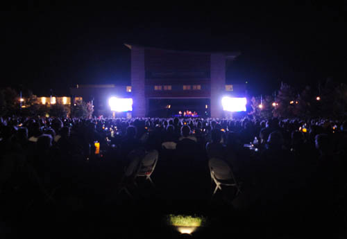 The view of Allison Krauss and Union Station from the very back of the lawn outside Weill Hall at the Green Music Center.