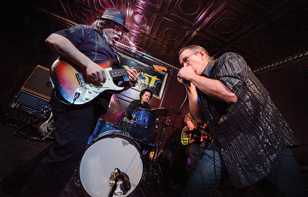 Lencat performs at Pioneer Saloon in Woodside. Photo by Greg Ramar.